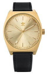 Adidas Process Leather Strap Watch 38Mm Gold Black