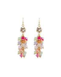 Emily And Ashley Simulated Crystal Chandelier Earrings Pink