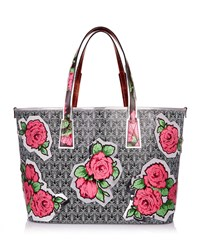 Liberty London Rq Iphis Marlborough Rose Tote Bag Black Pattern
