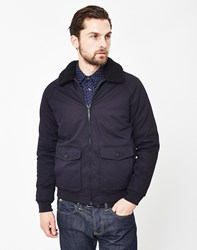 The Idle Man Sherpa Jacket Navy
