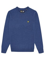 Lyle And Scott Lambswool Crew Neck Jumper Navy