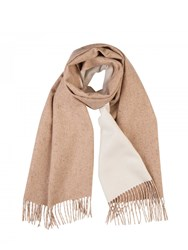 Johnstons Of Elgin Cashmere Donegal Reversible Scarf Neutral