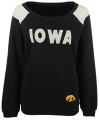 Colosseum Women's Iowa Hawkeyes Tempest Boatneck Fleece Sweatshirt Black
