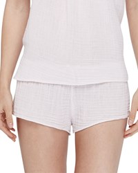 Xirena Shaw Cotton Gauze Lounge Shorts Shell White