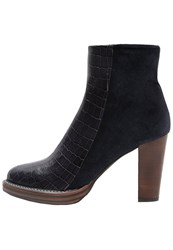 Zinda High Heeled Ankle Boots Navy Dark Blue