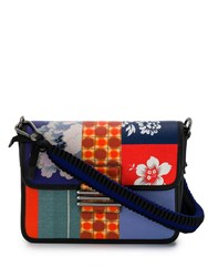 Etro Embroidered Patchwork Shoulder Bag Blue