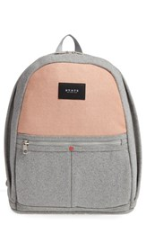 State Bags Auburn Fort Greene Backpack Grey Heather Camel