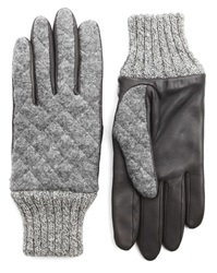 Agnelle Style Grey Flannel Gloves