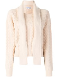 Carven Geometric Texture Jumper Nude And Neutrals