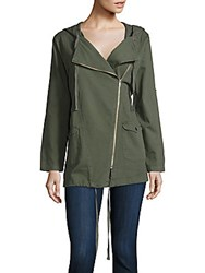Raga Solid Hooded Jacket Hunter Green