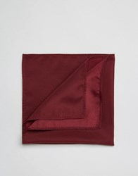 Asos Pocket Square In Burgundy Burgundy Red