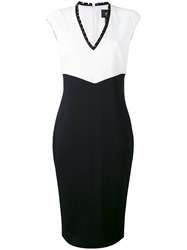 Class Roberto Cavalli Pleated Trim Pencil Dress Women Polyester Spandex Elastane Acetate Viscose 44 Black