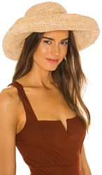 L Space Genie Raffia Hat In Tan. Natural