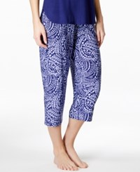 Alfani Satin Waistband Cropped Pajama Pants Only At Macy's Scatter Mosaic