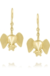 Natasha Zinko 18 Karat Gold Elephant Earrings