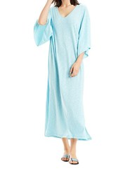 N Natori Heathered Long Nightgown Aqua