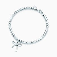 Tiffany And Co. Bow Bead Bracelet In Sterling Silver Small. No Gemstone