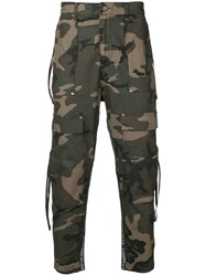 Stampd Camouflage Trousers Green