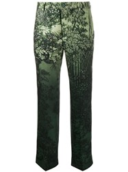 F.R.S For Restless Sleepers Low Rise Printed Trousers Green