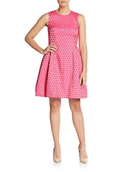 Anne Klein Dot Jacquard Fit And Flare Dress