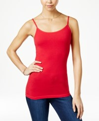 Planet Gold Juniors' Scoop Neck Tank Top Chinese Red