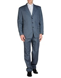 Belvest Suits And Jackets Suits Men Slate Blue