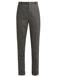 Isabel Marant Katja Slim Fit Cropped Trousers Grey