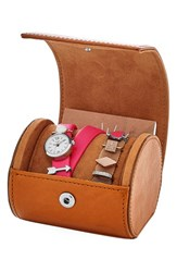 Women's Fossil 'Georgia' Leather Strap Watch And Charm Set 21Mm Red