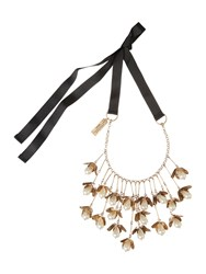 Max Mara Weekend Multi Pearl Drop Necklace Gold