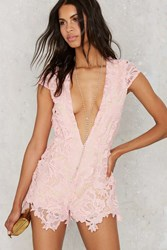 Nasty Gal Take It To Heart Lace Romper