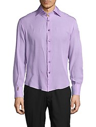 Billionaire Boys Club Button Down Silk Shirt Lilac