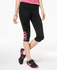 Material Girl Active Juniors' Cropped Yoga Leggings Only At Macy's Noir