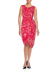 T Tahari Gathered Sheath Dress