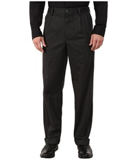 Dockers Comfort Khaki Upgrade Relaxed Pleated Dark Charcoal Heather Men's Casual Pants Black