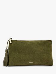 Ted Baker Deseree Leather Clutch Bag Khaki
