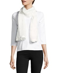Collection 18 Floral Jacquard Wrap Scarf White