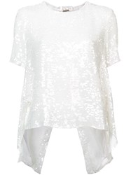 Adam By Adam Lippes Embroidered Shift Blouse White