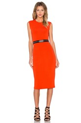 Mcq By Alexander Mcqueen Zip Bodycon Dress Orange
