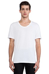 Alexander Wang Classic Low Neck Tee White