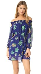Line And Dot Riza Off Shoulder Dress Midnight Blue