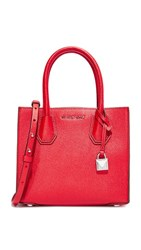Michael Michael Kors Medium Mercer Messenger Bag Bright Red