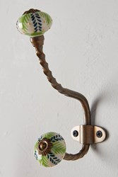 Anthropologie Gardening Indoors Hook Green Motif