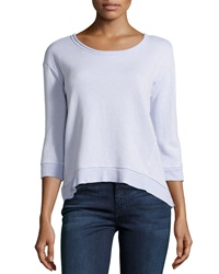 W By Wilt Cropped Slouchy Knit Sweatshirt Lotus