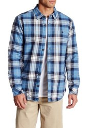 O'neill Crowne Faux Shearling Lined Plaid Flannel Regular Fit Shirt Blue