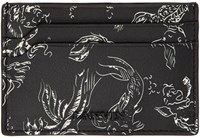 Lanvin Black Koi Card Holder