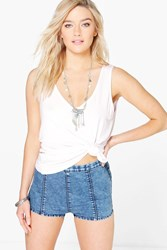 Boohoo Denim Knicker Short Blue