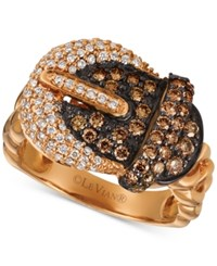 Le Vian Chocolatier Diamond Buckle Ring 1 1 6 Ct. T.W. In 14K Rose Gold