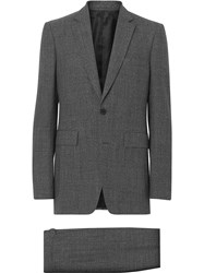 Burberry Classic Fit Melange Wool Three Piece Suit Grey