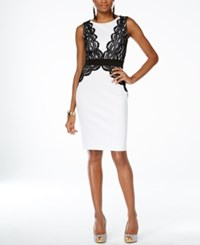 Thalia Sodi Lace Applique Sheath Dress Only At Macy's
