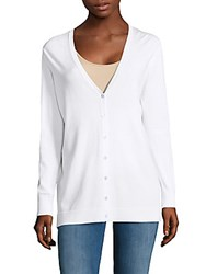 Saks Fifth Avenue Solid Boyfriend Cardigan White
